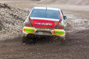 5. Rally show Santa Domenica 2014. / D. STAUT / A. BAMBIČ @ Mitsubishi Lancer EVO IX