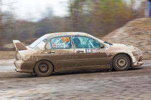5. Rally show Santa Domenica 2014. / J. BAIER / D. FOISSNER @ Mitsubishi Lancer EVO VIII