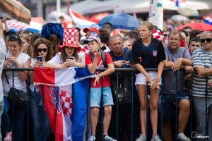 Doček Vatrenih na Trgu Bana Josipa Jelačića / Ivica Drusany