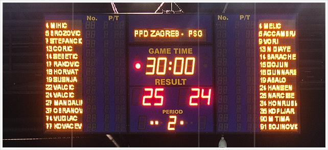 ZAGREB, CROATIA - DECEMBER 9, 2014: EHF Men's Champions League, match between HC Zagreb and HC Paris Saint-Germain.